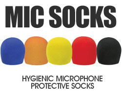 MICROPHONE SOCKS (MULTI-COLOURED) 5 PACK - AUD $19.99 by khe.co.nz - 00 613 9557 5110 - Click to view item.