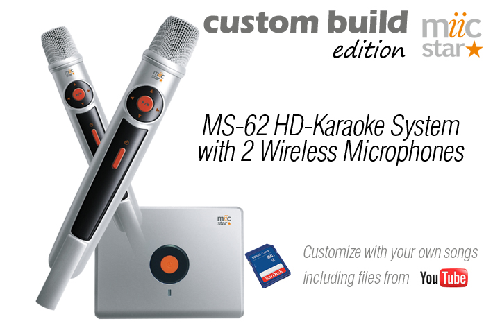 MS-62 CUSTOM BUILD YOUR MIIC STAR KARAOKE SYSTEM  - AUD $399.99 by khe.co.nz - 00 613 9557 5110