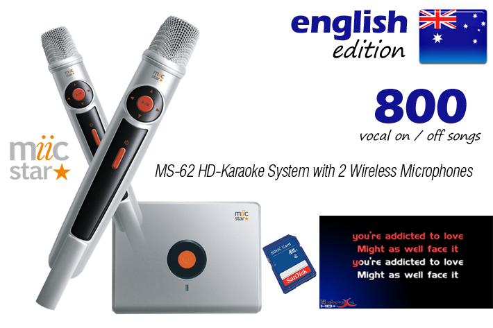 MS-62 ENGLISH VOCAL EDITION HD + MPX - MIIC STAR  - AUD $599.98 by khe.co.nz - 00 613 9557 5110
