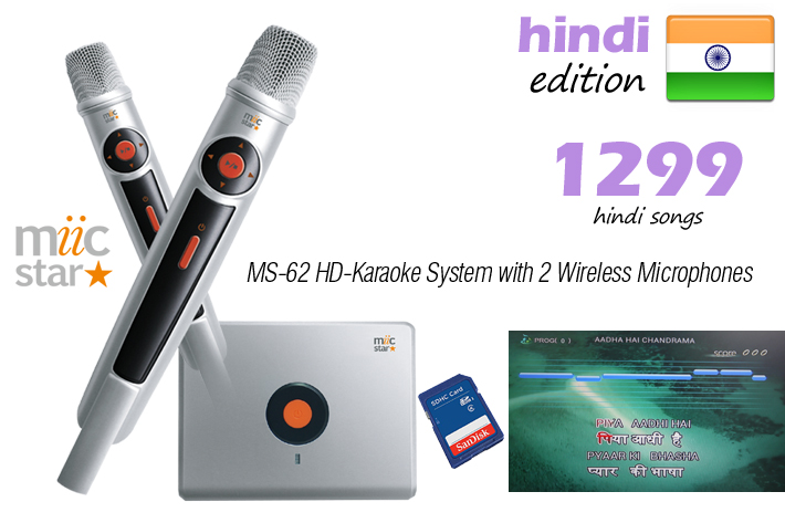 HINDI EDITION - MIIC STAR MS-62 KARAOKE SYSTEM  - AUD $449.99 by khe.co.nz - 00 613 9557 5110