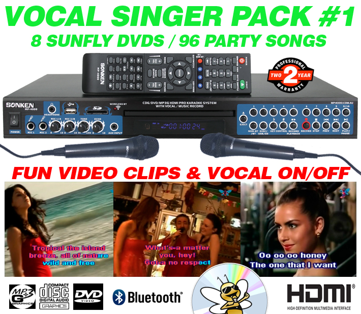 SONKEN PRO MP4000 VOCAL SINGER 96 SONG PACK  - AUD $427.00 by khe.co.nz - 00 613 9557 5110