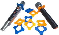 MICROPHONE ANTI-ROLL STANDS 4 PACK  - AUD $24.99 by khe.co.nz - 00 613 9557 5110