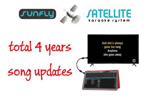 3 YEARS UPDATES SUNFLY SATELLITE KARAOKE SONGS - AUD $1,599.99 by khe.co.nz - 00 613 9557 5110 - Click to view item.