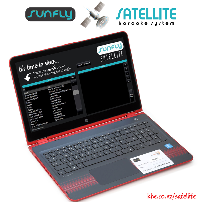 SUNFLY SATELLITE LAPTOP SYSTEM 17,000+ SONGS  - AUD $6,595.00 by khe.co.nz - 00 613 9557 5110